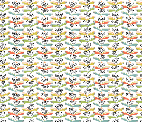 Bookish Ways: 50s colors fabric by sheri_mcculley on Spoonflower - custom fabric