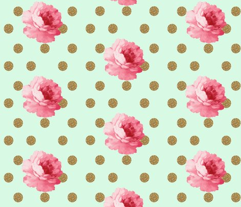 Rrflowerandgolddot_mint_shop_preview