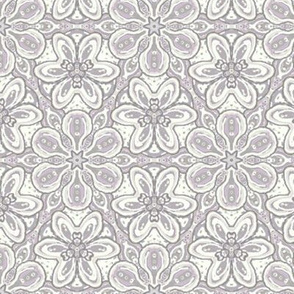 Lavender Gray Cream Aqua Floating Soft Flowers