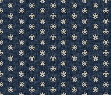 Western Stars - tan on denim fabric by thecalvarium on Spoonflower - custom fabric