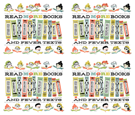 Read More Books Totes fabric by sheri_mcculley on Spoonflower - custom fabric