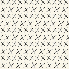 Swiss Cross Stripe Cream