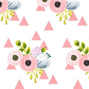 Triangle bouquet - pink
