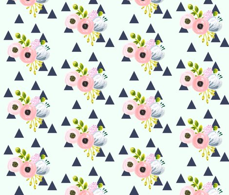 Rfloraltriangles2_navymint_shop_preview