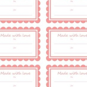 Made With Love Tags - Pink
