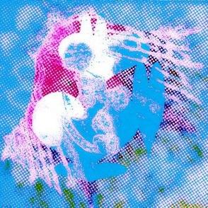 #9, I am alive!, blue heart creature