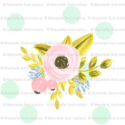 mint dotted bouquet
