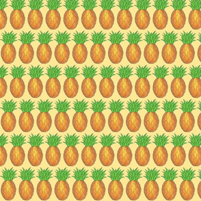 Tropical Pineapples Print