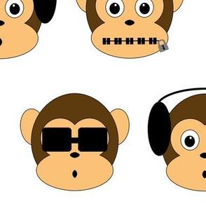 Three Wise Monkeys Large
