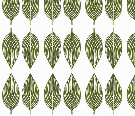 hosta leaves - off white background fabric by deborahi on Spoonflower - custom fabric