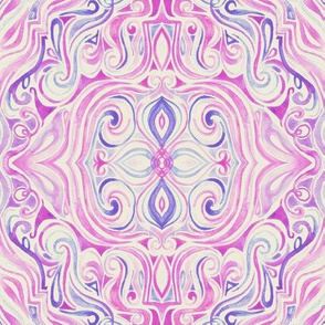 Vintage Pink and Purple Watercolor Swirls