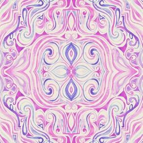 Vintage Pink and Purple Watercolor Swirls
