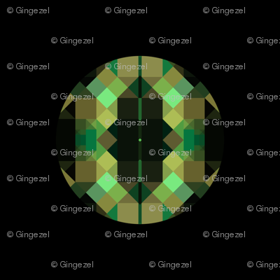 Forest Green Faceted Dots