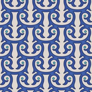 Moroccan pattern blue