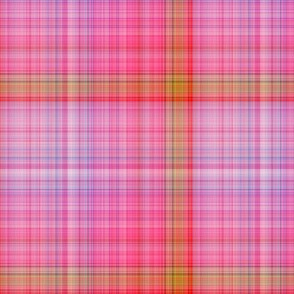 DREAM OF A ORANGE PINK SEA GARDEN Plaid 4