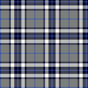 Thomson / Thompson tartan - grey and blue