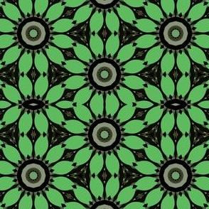 Forest Green Digital Flowers