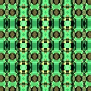 Green and Brown Tribal Geometric