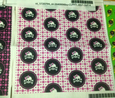 2x2 Pink White Girly Skull