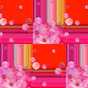DREAM OF A ORANGE PINK SEA GARDENFruity Light Balloon Bubbles