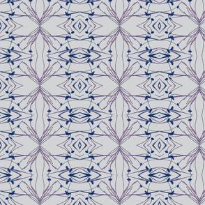 Dandelions (Bold Blue & Gray)