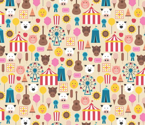 Kentucky State Fair fabric by amyelaine on Spoonflower - custom fabric