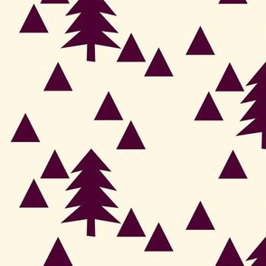 triangle forest - plum and cream