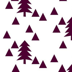triangle forest - plum