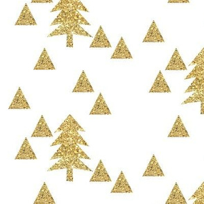 Triangle Forest - gold glitter