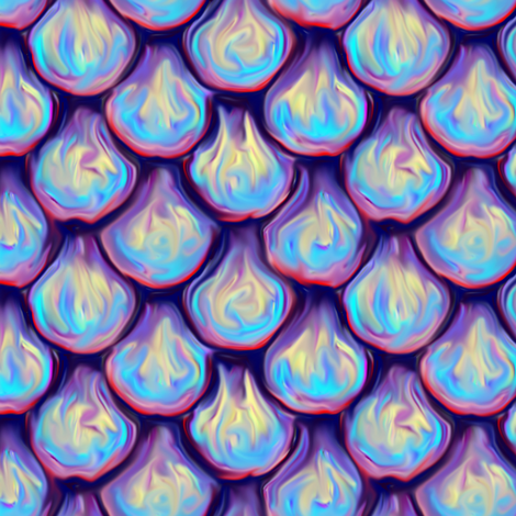 Iridescent Dragon Scales fabric - eclectic_house - Spoonflower