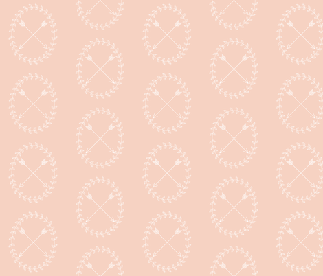 Arrow wreath - light pink fabric by ajoyfulriot on Spoonflower - custom fabric