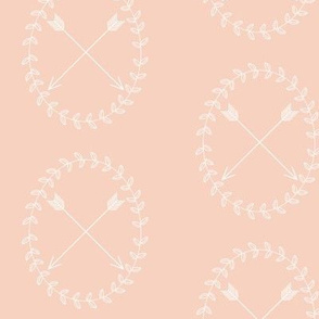 Arrow wreath - light pink