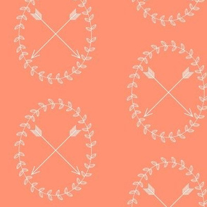 Arrow Wreath - coral