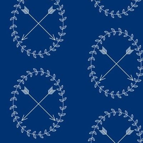 Arrow Wreath - Navy