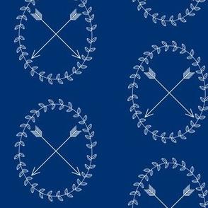 Arrow Wreath - Navy