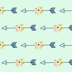 Floral Arrow - Mint (tight)