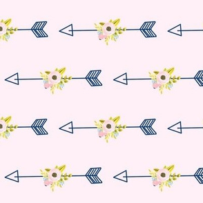 Floral Arrow - Light Pink (tight)