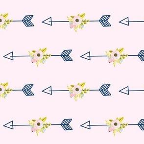 Floral Arrow - Light Pink (tight)