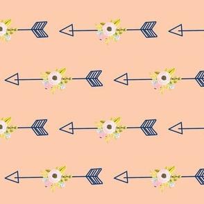 Floral Arrow - Coral (tight)