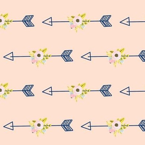 Floral Arrow - light coral