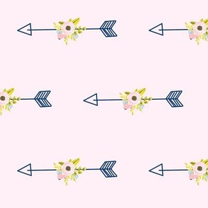 Floral Arrow - Light Pink