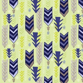 Blue Stripe Chevrons