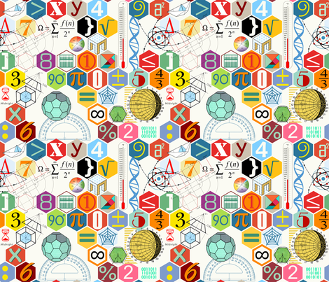 Math In Color Whitesc50 Fabric By Chicca Besso On Spoonflower
