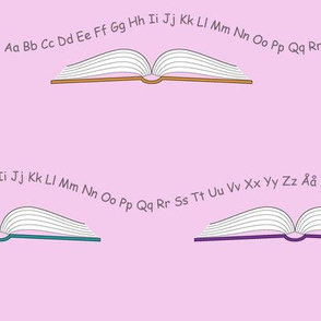 School books with letters and numbers_Lilac