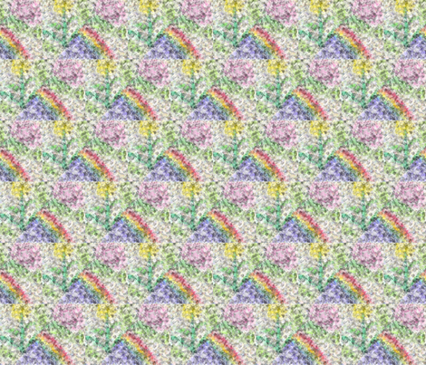 floral_cotton_ball_effect_8_20_2015 fabric by compugraphd on Spoonflower - custom fabric
