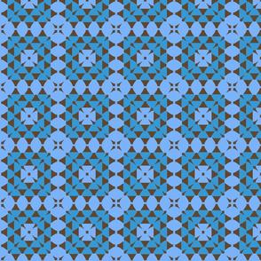 granny square blue brown