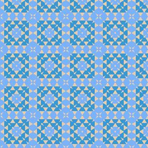 granny squares blue