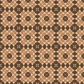 granny square beige and brown