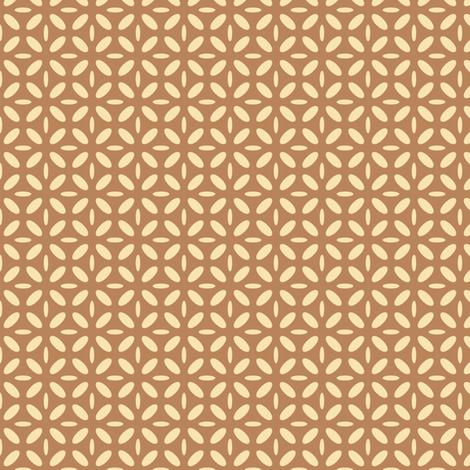 ellipse beige on brown fabric by tailorfairy on Spoonflower - custom fabric