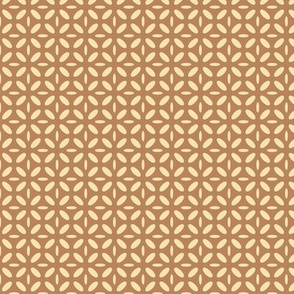 ellipse beige on brown